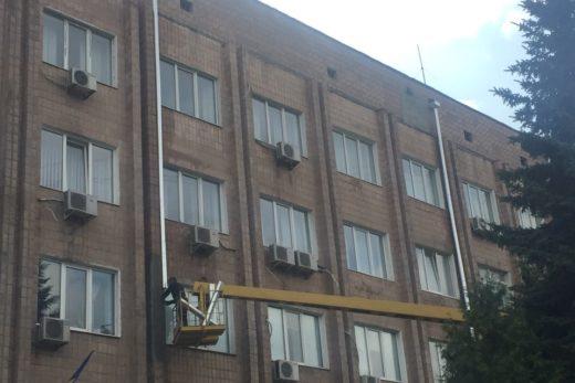 Ремонт кровли здания Облавтодора, по адресу: г. Харьков, ул. Ахсарова, 2