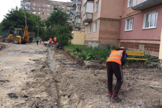 Капитальный ремонт ул. Тимирязева, 28 (внутриквартальные дороги и тротуары)